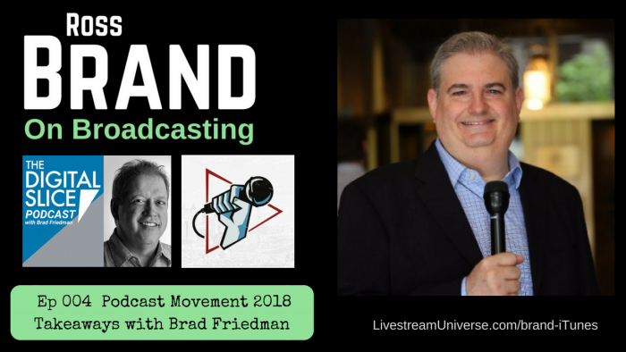 Podcast Movement 2018 Takeaways with Brad Friedman (Ep 004)