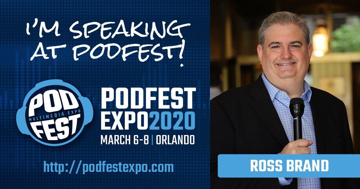 Ross Brand Speaker Podfest Expo