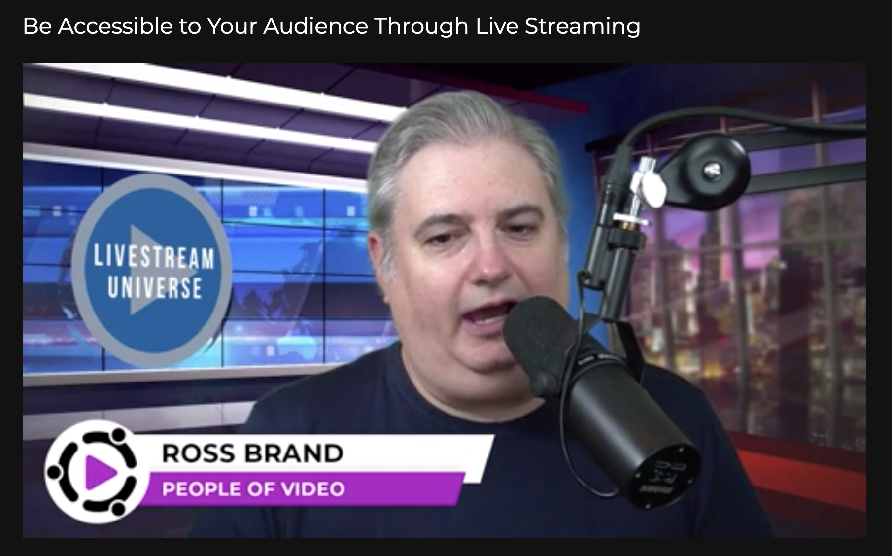 Ross Brand People of Video